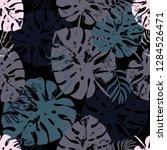 vector beach seamless pattern... | Shutterstock .eps vector #1284526471