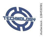 technology logo template.   Shutterstock .eps vector #1284530581