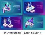 set banner isometric medical... | Shutterstock .eps vector #1284531844