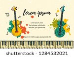 vector illustration with bass... | Shutterstock .eps vector #1284532021