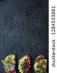 various types of avocado... | Shutterstock . vector #1284533881