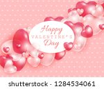 happy valentine day gift card... | Shutterstock .eps vector #1284534061