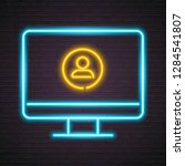 person icon with computer... | Shutterstock .eps vector #1284541807