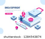 dmca data copyright isometric... | Shutterstock .eps vector #1284543874