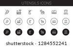 utensils icons set. collection... | Shutterstock .eps vector #1284552241