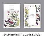 botanical wedding invitation... | Shutterstock .eps vector #1284552721