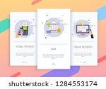 onboarding screens user... | Shutterstock .eps vector #1284553174