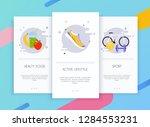 onboarding screens user... | Shutterstock .eps vector #1284553231