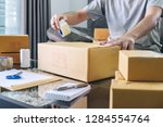 small business parcel for... | Shutterstock . vector #1284554764