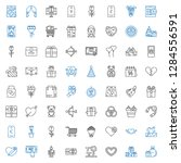 gift icons set. collection of... | Shutterstock .eps vector #1284556591