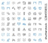 discussion icons set.... | Shutterstock .eps vector #1284558511