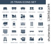 25 train icons. trendy train... | Shutterstock .eps vector #1284561694