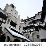 the inner courtyard of bran... | Shutterstock . vector #1284562084