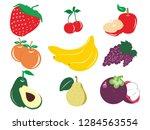 fruit illustration strawberry... | Shutterstock .eps vector #1284563554