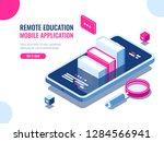 tutorial on mobile phone...   Shutterstock .eps vector #1284566941
