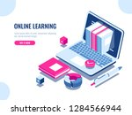 catalog of online courses... | Shutterstock .eps vector #1284566944