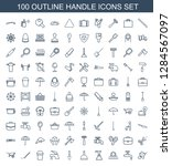 handle icons. trendy 100 handle ... | Shutterstock .eps vector #1284567097
