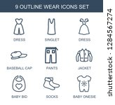 9 wear icons. trendy wear icons ... | Shutterstock .eps vector #1284567274