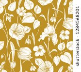 botanical seamless pattern with ... | Shutterstock .eps vector #1284568201
