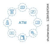 8 atm icons. trendy atm icons... | Shutterstock .eps vector #1284569344