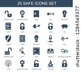 safe icons. trendy 25 safe... | Shutterstock .eps vector #1284569377
