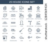 house icons. trendy 25 house... | Shutterstock .eps vector #1284569434