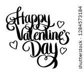 happy valentine day lettering... | Shutterstock .eps vector #1284573184
