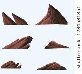 illustration of stone isolated...   Shutterstock . vector #1284581851