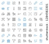 utensil icons set. collection... | Shutterstock .eps vector #1284582301