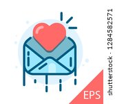 envelope with heart. vector...