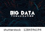 big data visualization. trendy... | Shutterstock .eps vector #1284596194