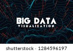 big data visualization. trendy... | Shutterstock .eps vector #1284596197