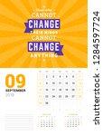 wall calendar template for... | Shutterstock .eps vector #1284597724