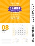 wall calendar template for... | Shutterstock .eps vector #1284597727