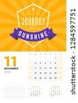 wall calendar template for... | Shutterstock .eps vector #1284597751