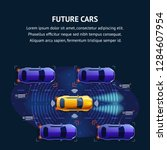 future cars traffic system... | Shutterstock .eps vector #1284607954