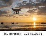 drone for cinema travel  | Shutterstock . vector #1284610171