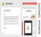 love letter business letterhead ... | Shutterstock .eps vector #1284612541