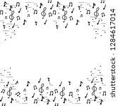 music notes frame | Shutterstock .eps vector #1284617014