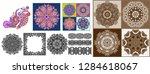 set of original hand draw line... | Shutterstock .eps vector #1284618067