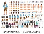 hipster guy diy set or... | Shutterstock .eps vector #1284620341