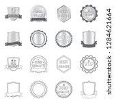 bitmap design of emblem and... | Shutterstock . vector #1284621664