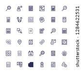 editable 36 plus icons for web... | Shutterstock .eps vector #1284622531