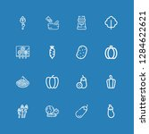 editable 16 garlic icons for... | Shutterstock .eps vector #1284622621