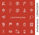 editable 22 location icons for...