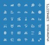 editable 36 bike icons for web... | Shutterstock .eps vector #1284622771