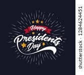 happy presidents day banner... | Shutterstock .eps vector #1284624451