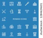 editable 22 roman icons for web ... | Shutterstock .eps vector #1284624631