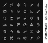editable 36 pair icons for web... | Shutterstock .eps vector #1284624667