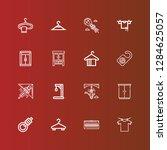 editable 16 hang icons for web... | Shutterstock .eps vector #1284625057
